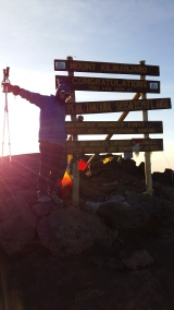 I made it finally all the way to the top!