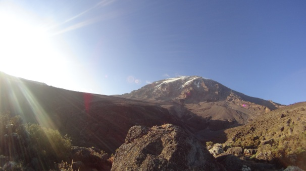 Going down and leaving Uhuru peak behind